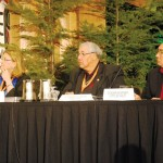 (L-R) Commissioner Wilson, Commissioner Sinclair, and Commissioner Littlechild of the TRC. Photo by Jane Luhtasaari, Courtesy TRC