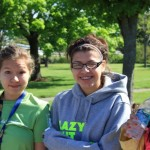 Three of the We'koqma'q Envirothon girls... (L-R) Starla Bernard, Kendryl Sylliboy, Darin Bernard.