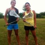 (L-R) Coach Kristen Ezard and Sara-Lynne Knockwood.