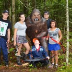 The sasquatch target was popular with the youth. Photo by Nigel Gloade
