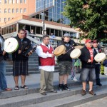 Eastern Eagle provided druming and singing for the days events.