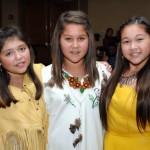 Eskasoni's singing sensations, (L-R) Maryanne Junta, Issa Paul and Kalolin Johnson.