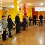Closing prayer at the session held at the Mi'kmaq Native Friendship Centre in Halifax, NS. Photo by Adam Gould