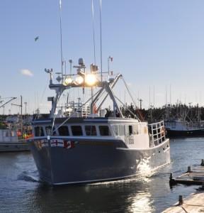 One of Eskasoni's fishing boats, Uncle Roddie Gould.