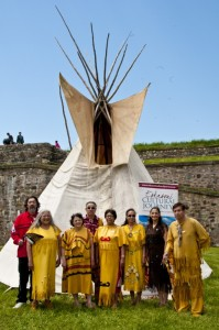 The Eskasoni Cultural Journey Tourism season is about to begin the staff of Cultural Journey was front and center during the Aboriginal Day celebrations at the Fortress of Louisbourg. Photo by George Paul