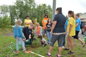 Faith Julien and Anthony Pryor of MCG tree planting in Glooscap.