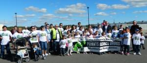 Participants of Membertou's Parents Against Drugs Walk.
