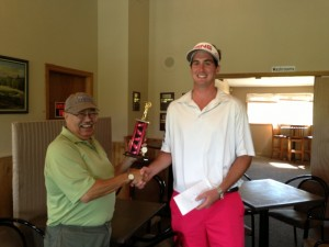 Don Julien presents 2013 Champion Justin Gloade with the Millbrook King of the Mountain Trophy. Congratulations Justin!!