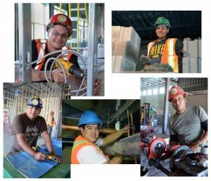 (Top Right) Matthew MacDonald, Bricklayer. (Bottom Right) Travis Paul-Sprinkler installer.