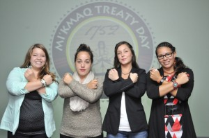 Scholarship recipients, (L-R) Jasmine Johnson, Rayana Googoo, Luisa Martin, and Ashley Julian. Photo by George Paul