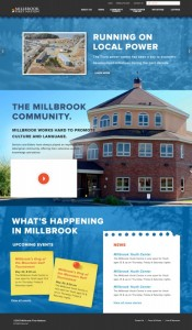 The new look of Millbrook's website.