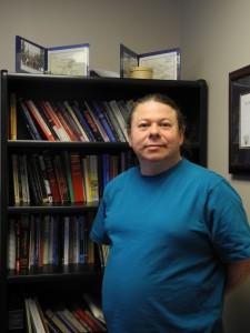 Tuma Young, Assistant Professor of Mi'kmaw Studies. Photo by CBU