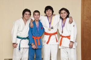 (L-R) Devon Johnson, Angelo Bernard, Ronald Dennis and Trenton Tantarelli