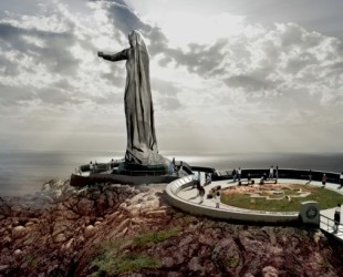 A drawing of the Never Forgotten National Memorial, called Mother Canada, was supposed to be built in Cape Breton to honour all Canadian soldiers killed in war and who were buried overseas. But Environment Canada and Parks Canada pulled the plug on it. Illustration courtesy of the Never Forgotten National memorial