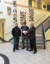 (L-R) Brandon Maloney, Michael Willis and Chief Rufus Copage.