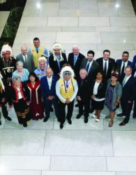 Nova Scotia Mi'kmaw Chiefs  gather inside Parliament Hill with all federal members of Parliament from Nova Scotia. Photo provided by House of Commons