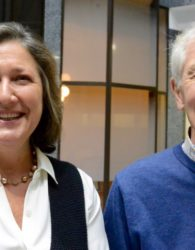 (L-R) Janet MacMillan and Robert Fournier.